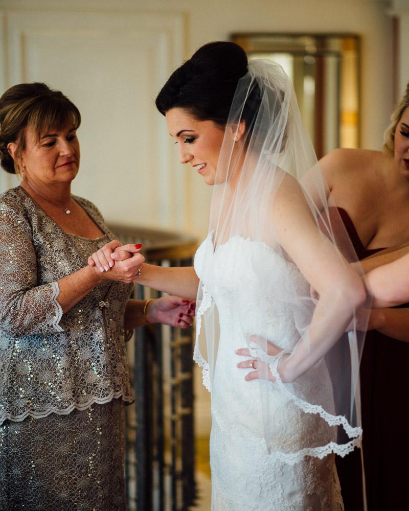 mother-bride-getting-dress Julia and Wes | Nashville, TN Winter Wedding | Gaylord Opryland Hotel