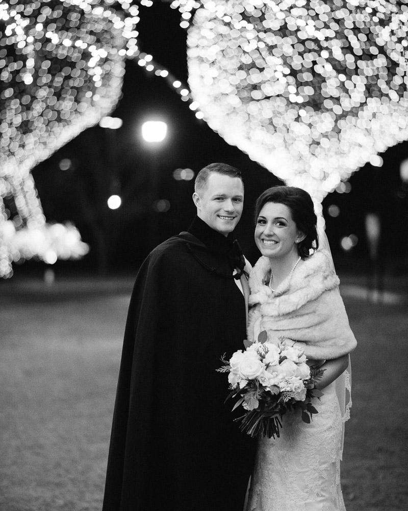 opryland-lights-wedding Julia and Wes | Nashville, TN Winter Wedding | Gaylord Opryland Hotel