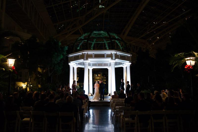 opryland-wedding-at-night-800x534 Julia and Wes | Nashville, TN Winter Wedding | Gaylord Opryland Hotel