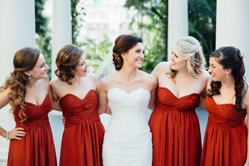 Smiling Bride At Her Bridesmaids 300x200