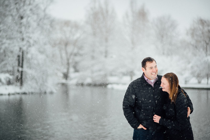 laughing-in-snow-nashville-800x534 Sara and Ryan | Nashville Winter Snow Engagement Session
