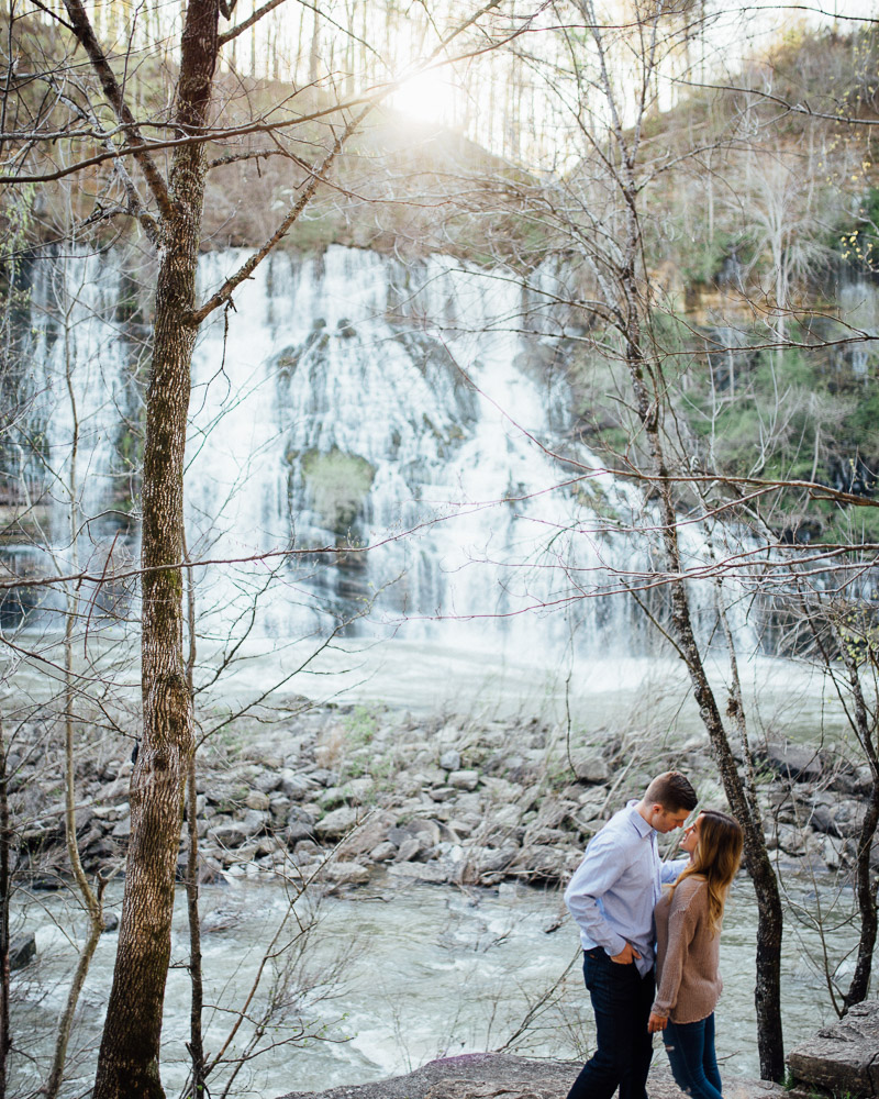 epic-engagement-photos Rock Island, Tennessee | Waterfall Engagement