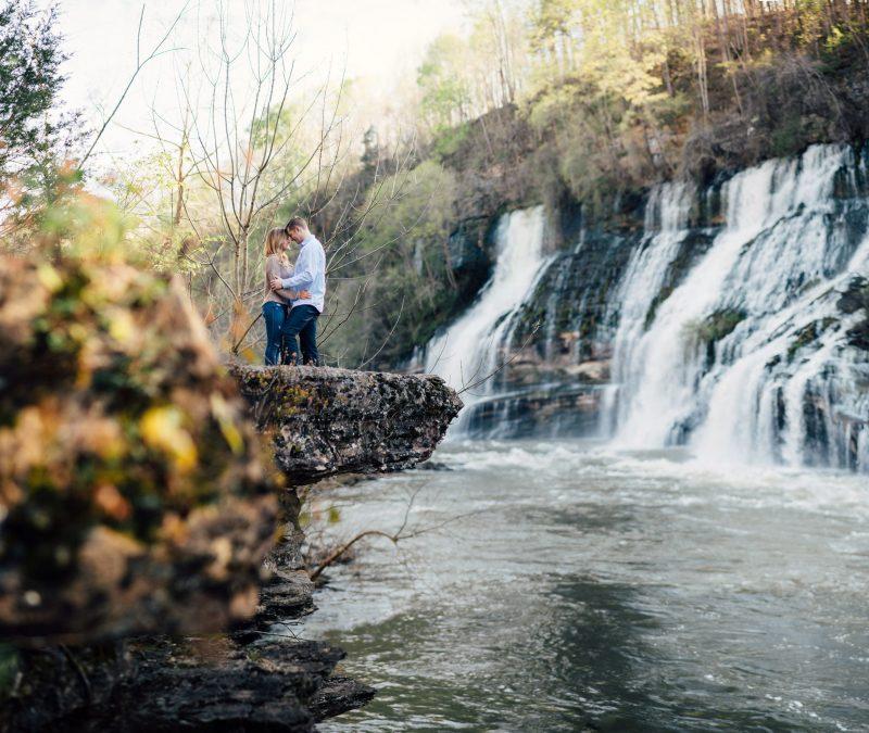 waterfall-engagement-photos-800x675 Rock Island, Tennessee | Waterfall Engagement