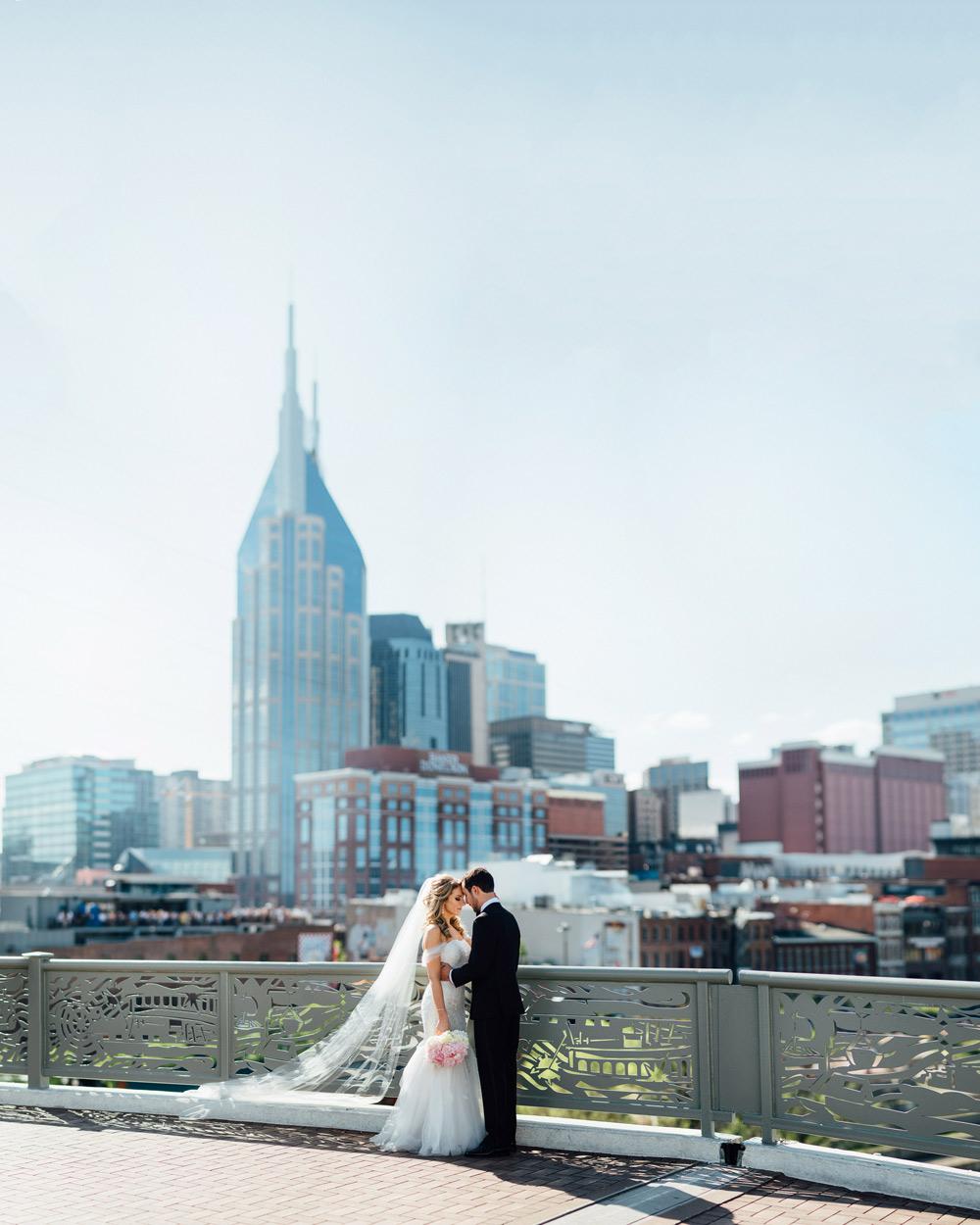 nashville-skyline-wedding-photography Downtown Nashville Wedding | Andrea + Ted | The aVenue