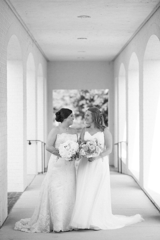 black-and-white-brides Amy + Tara | Travellers Rest Plantation Wedding