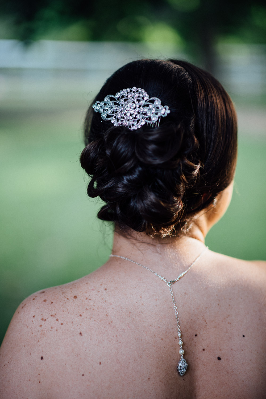 bridal-hair Amy + Tara | Travellers Rest Plantation Wedding