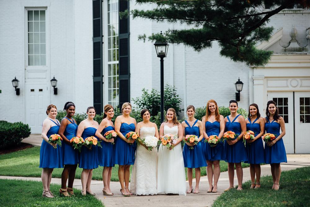 brides-with-bridesmaids Amy + Tara | Travellers Rest Plantation Wedding