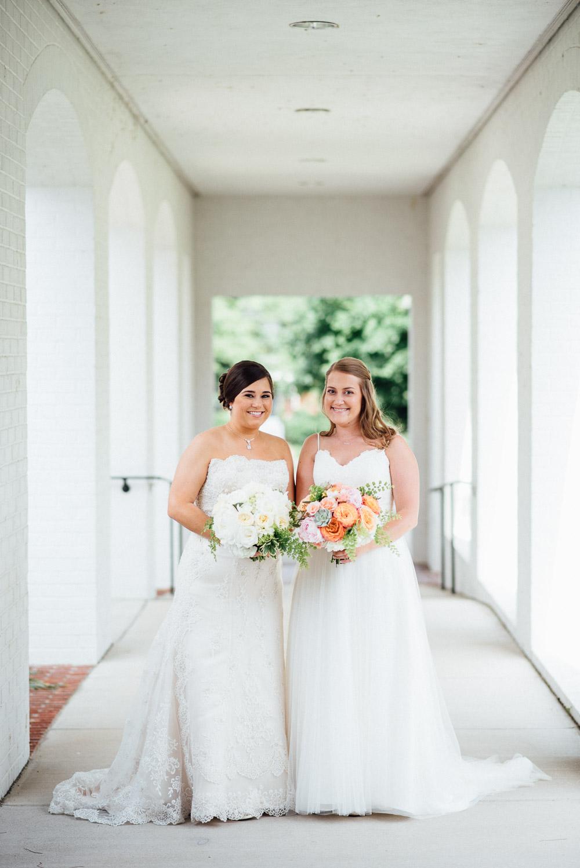 two-brides-wedding Amy + Tara | Travellers Rest Plantation Wedding