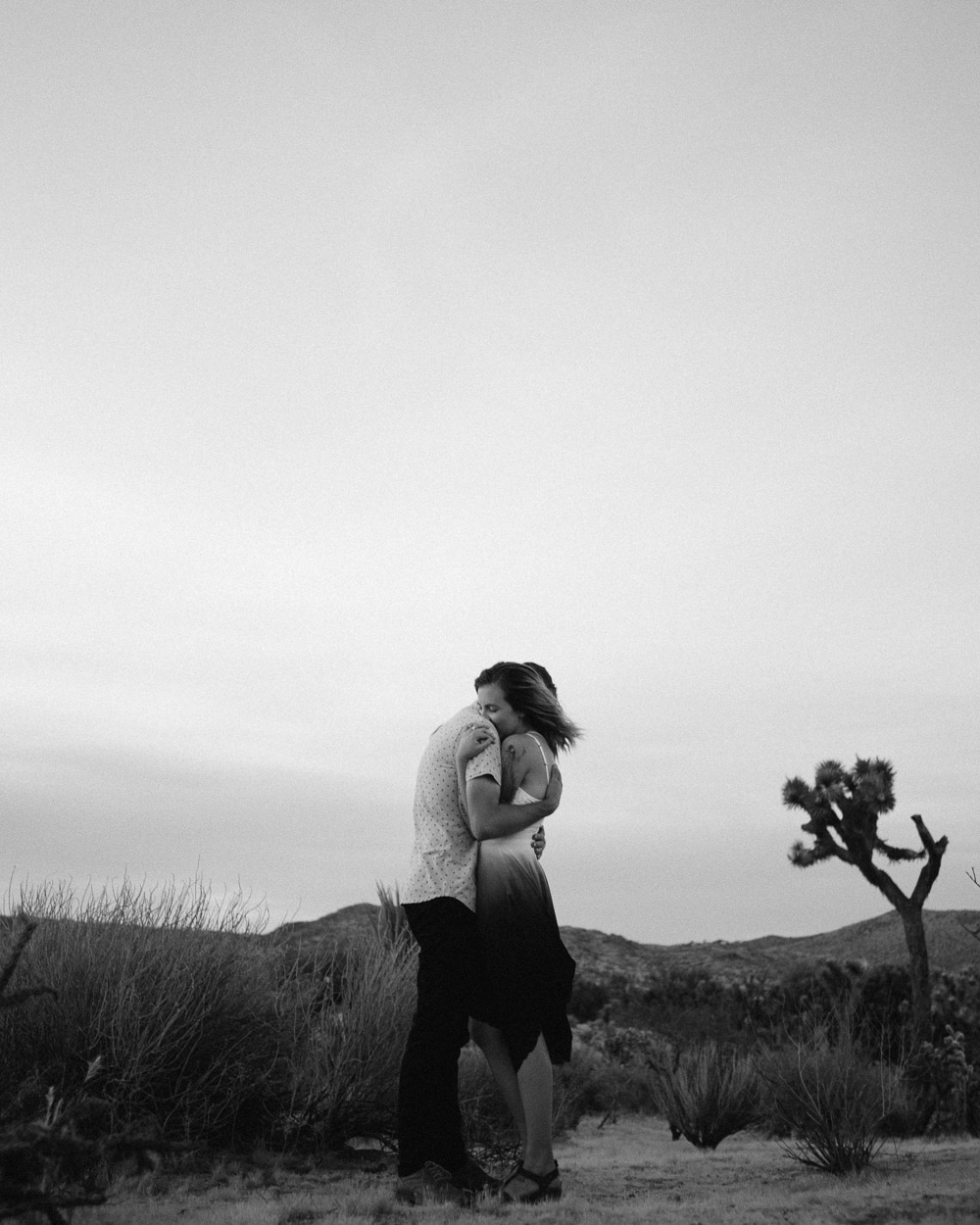black-and-white-adventure-photography Epic Adventure Destination Engagement Session | Joshua Tree, CA
