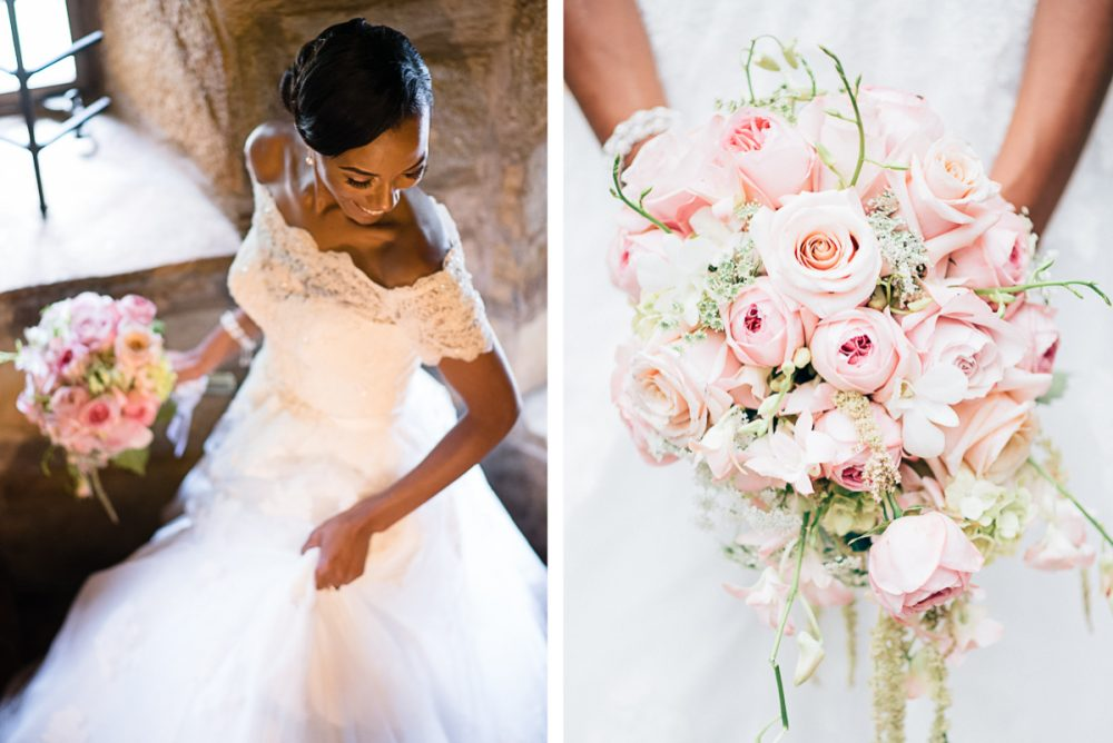 bride-on-staircase-e1475268987998 Cloisters Castle Wedding | Towson Maryland