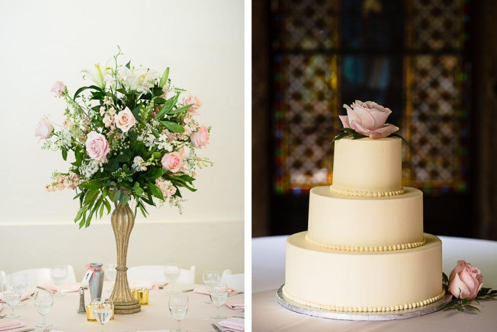elegant-wedding-cake-with-flowers-e1475268923361 Cloisters Castle Wedding | Towson Maryland