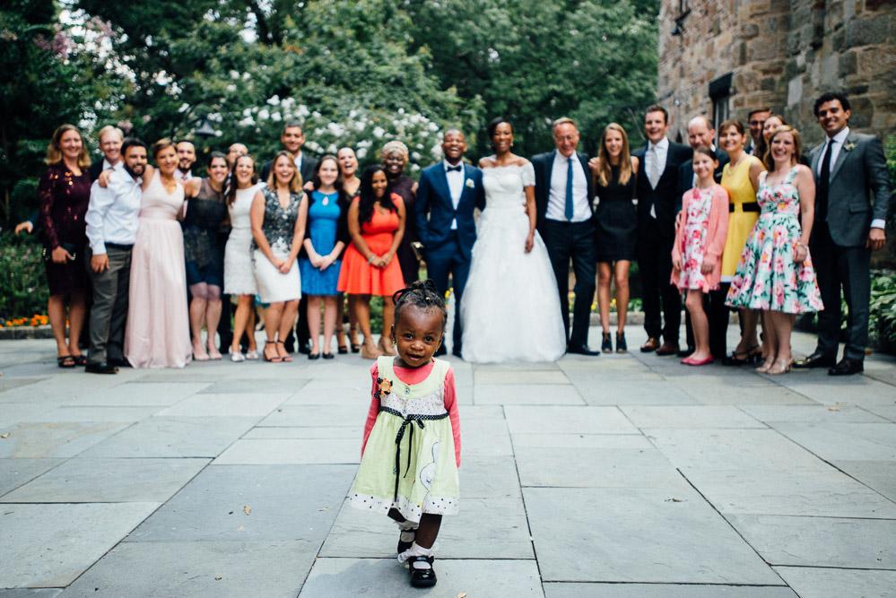 little-girl-photobomb Cloisters Castle Wedding | Towson Maryland