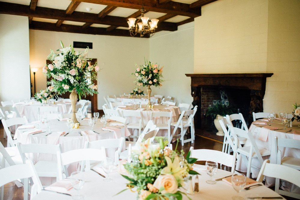 wedding-centerpieces Cloisters Castle Wedding | Towson Maryland