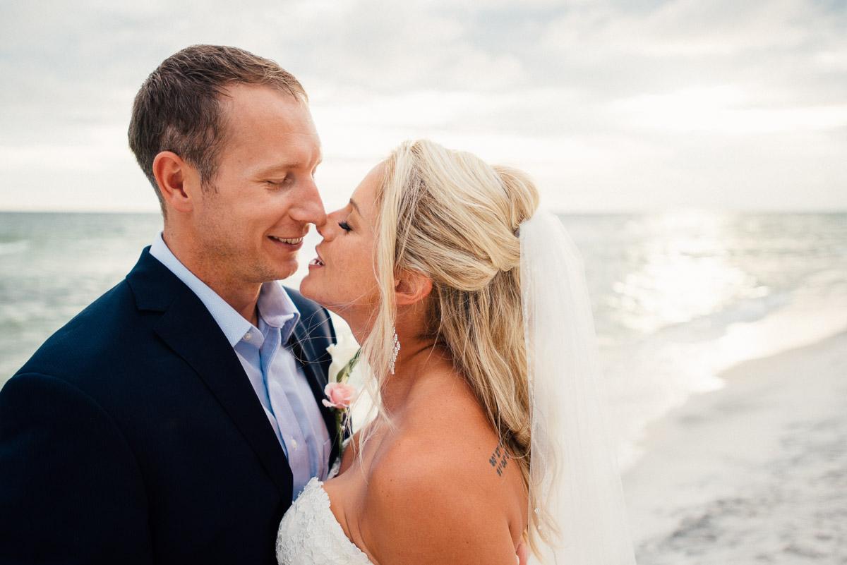almost-kiss Destin Beach House | Destination Wedding | Kasey and Rocky