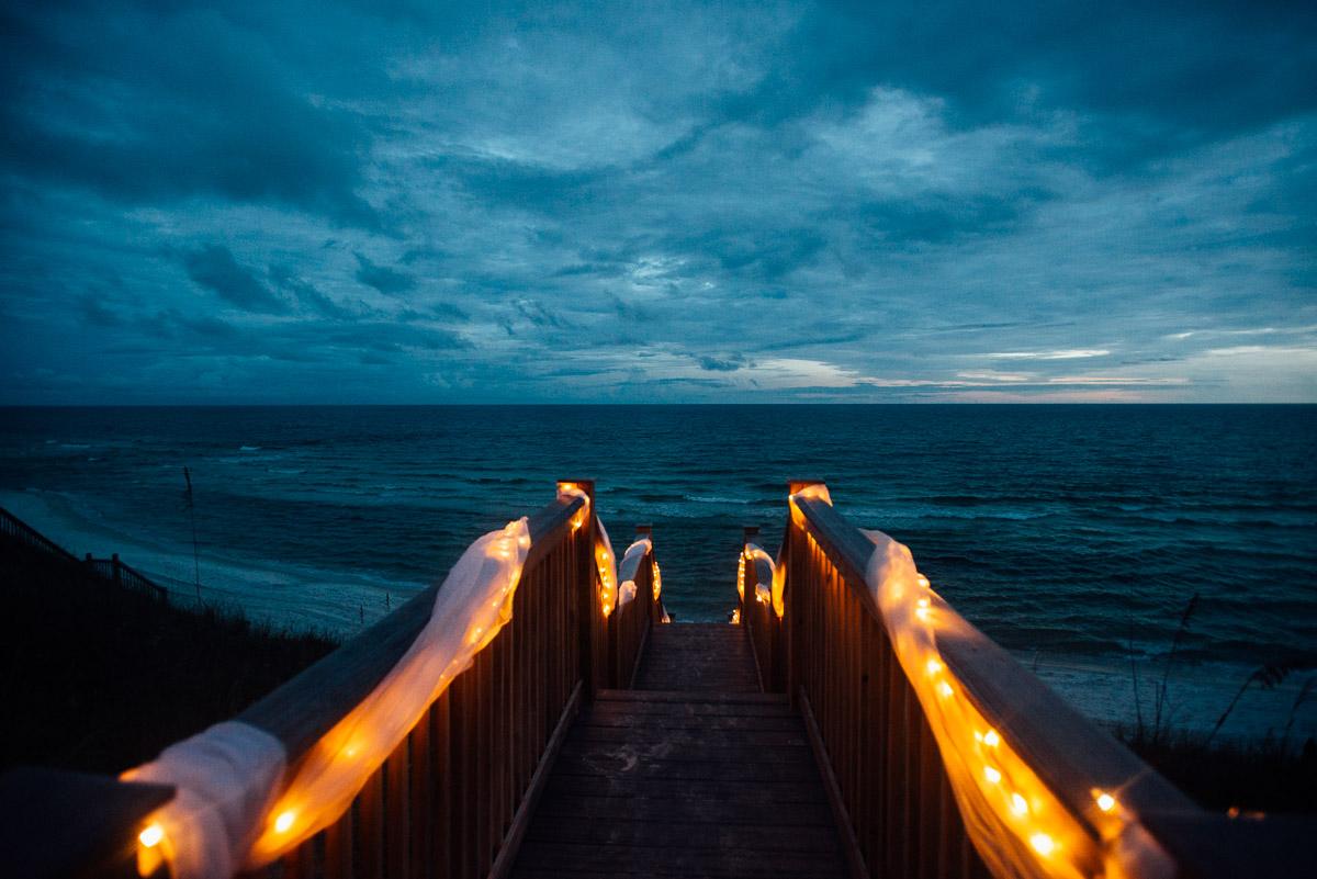 Beach At Night Wedding 300x200