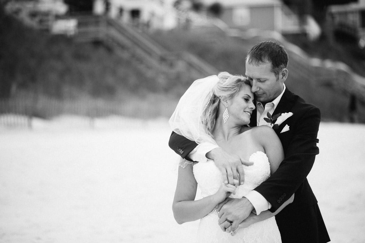bride-groom-blackandwhite Destin Beach House | Destination Wedding | Kasey and Rocky