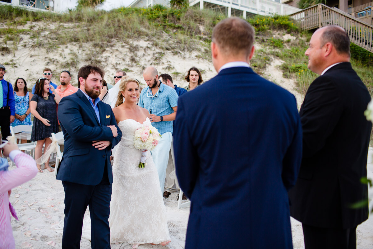 bride-seeing-groom Destin Beach House | Destination Wedding | Kasey and Rocky