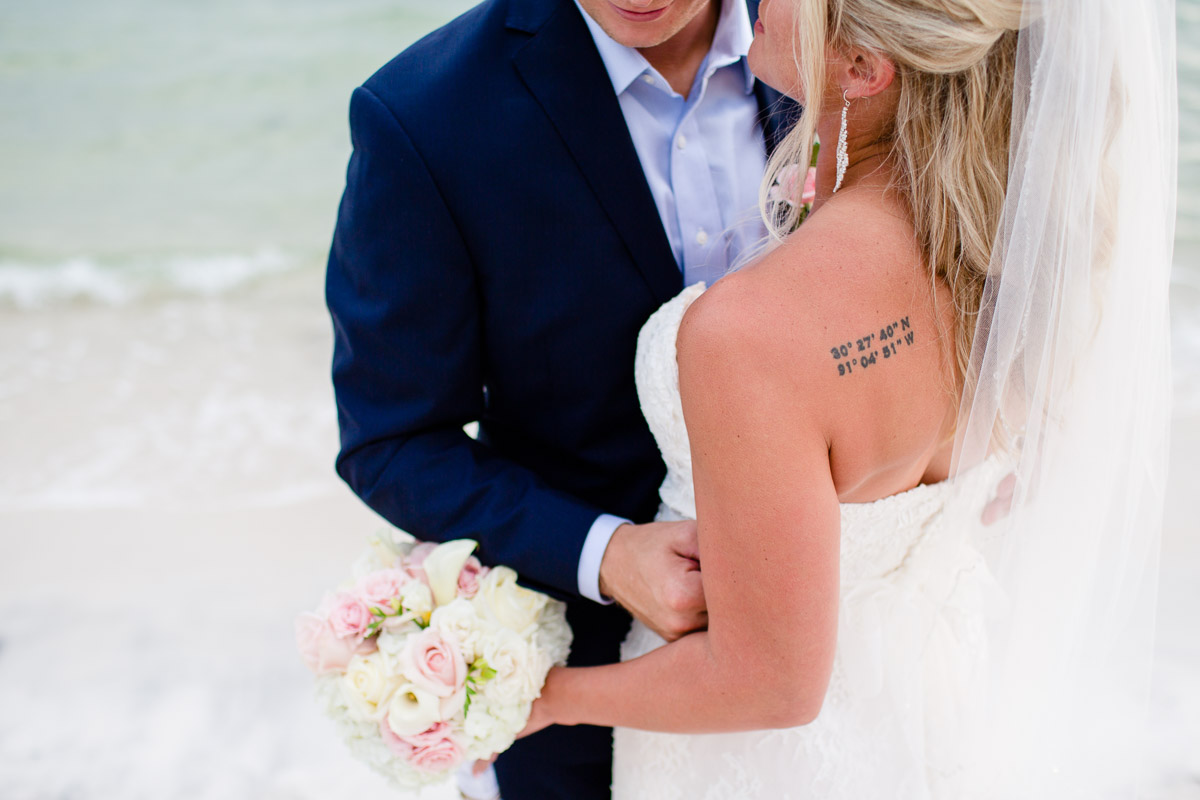 bride-tattoo Destin Beach House | Destination Wedding | Kasey and Rocky