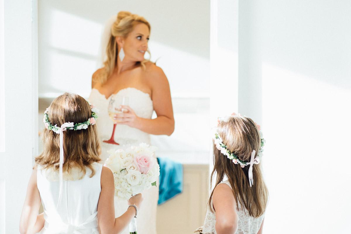 bride-with-flower-girls Destin Beach House | Destination Wedding | Kasey and Rocky