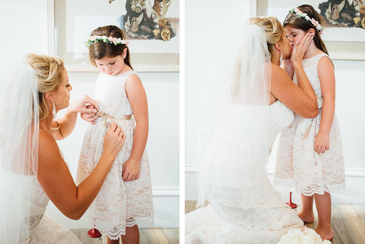 bride-with-flowergirl-1 Destin Beach House | Destination Wedding | Kasey and Rocky