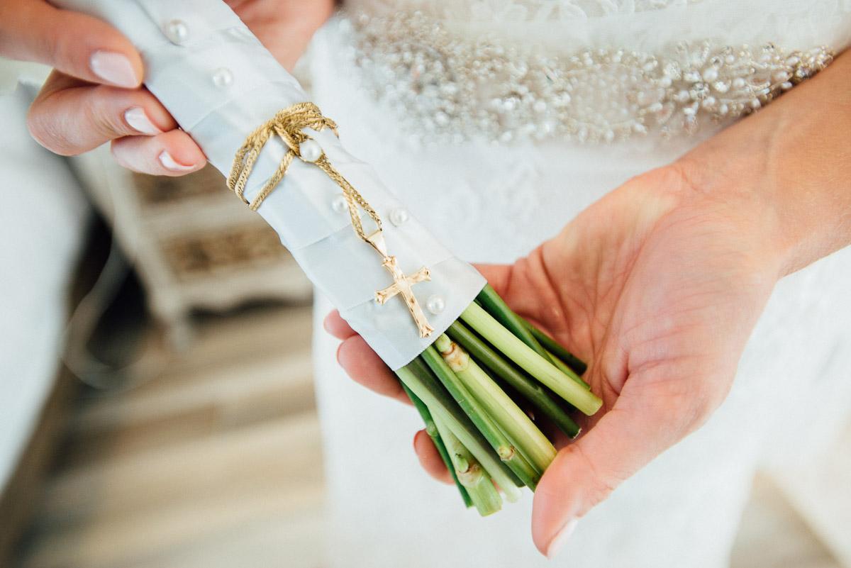 cross-on-flowers Destin Beach House | Destination Wedding | Kasey and Rocky
