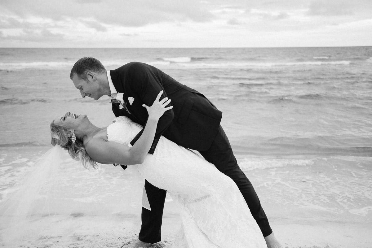 dip-on-beach Destin Beach House | Destination Wedding | Kasey and Rocky