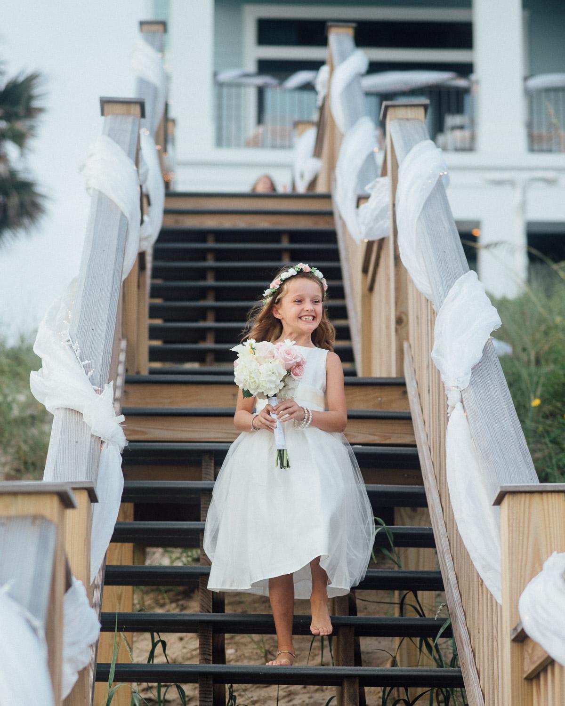 flower-girl Destin Beach House | Destination Wedding | Kasey and Rocky