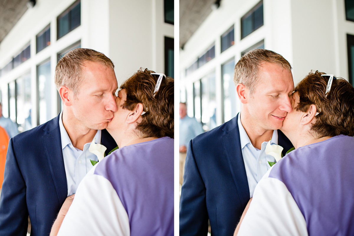 groom-kissing-his-mom-cheek-1 Destin Beach House | Destination Wedding | Kasey and Rocky
