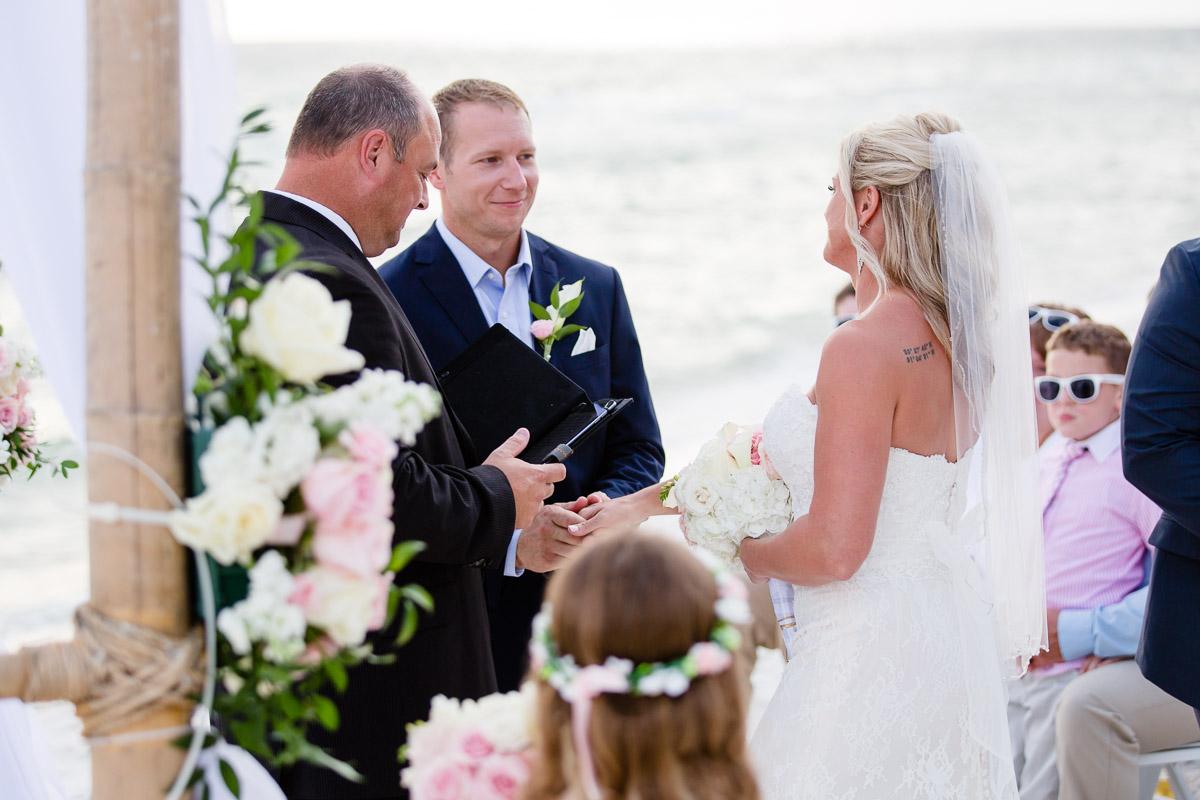 groom-sees-bride Destin Beach House | Destination Wedding | Kasey and Rocky