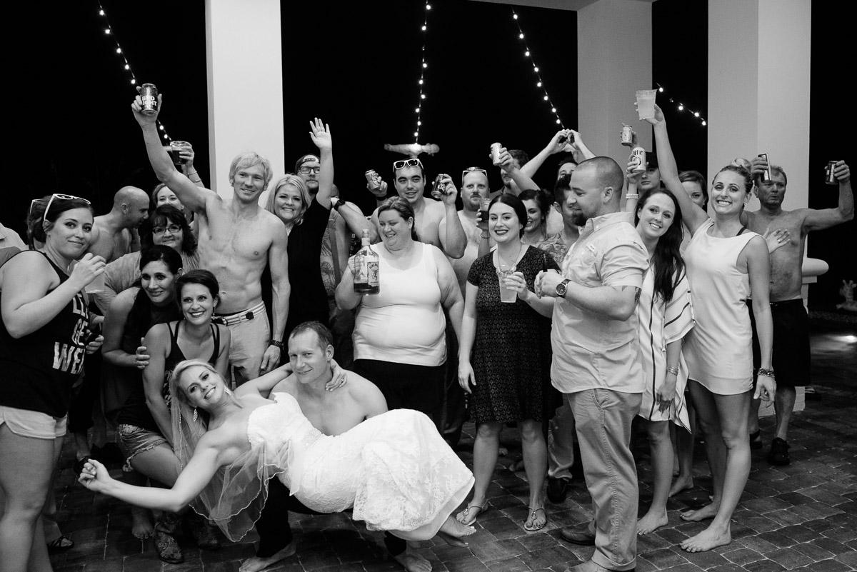 group-photo-shirtless-wedding Destin Beach House | Destination Wedding | Kasey and Rocky