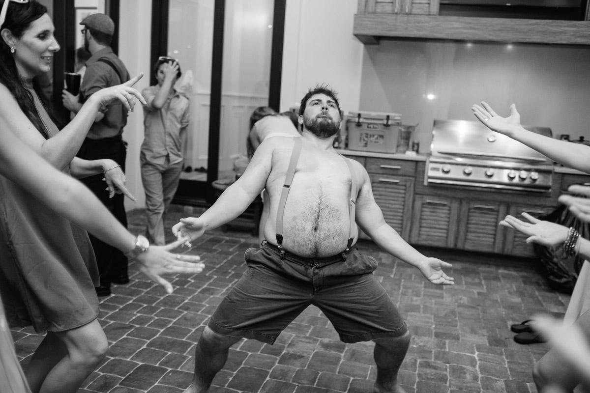 shirtless-wedding-dancing Destin Beach House | Destination Wedding | Kasey and Rocky