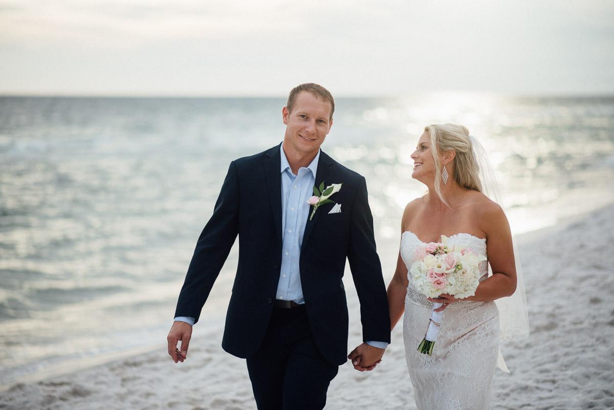 walking-on-beach Destin Beach House | Destination Wedding | Kasey and Rocky