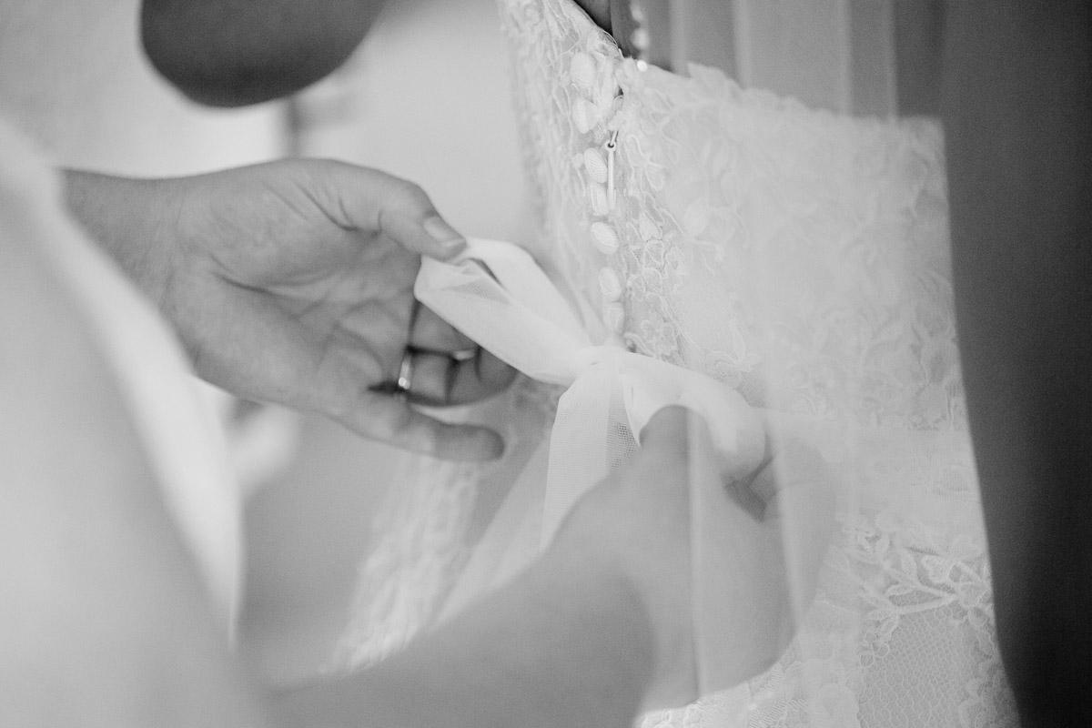 wedding-dress-bow Destin Beach House | Destination Wedding | Kasey and Rocky