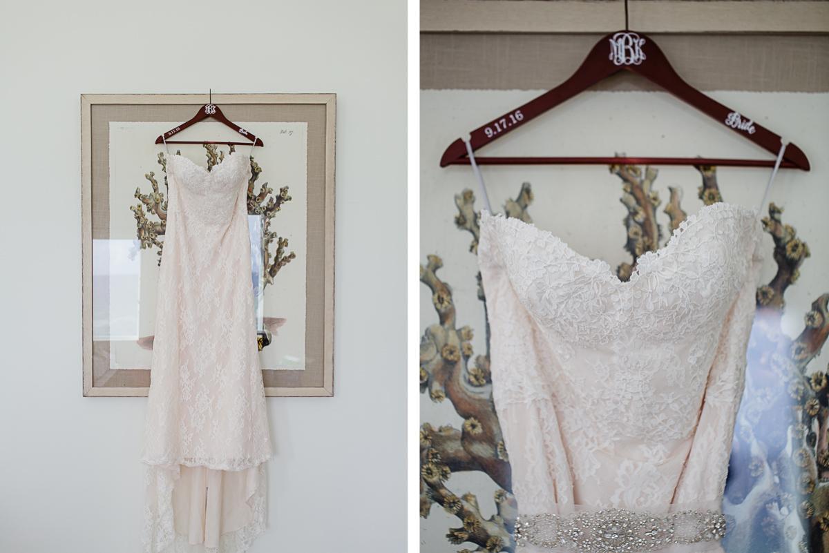wedding-dress-hanger-custom-detail Destin Beach House | Destination Wedding | Kasey and Rocky