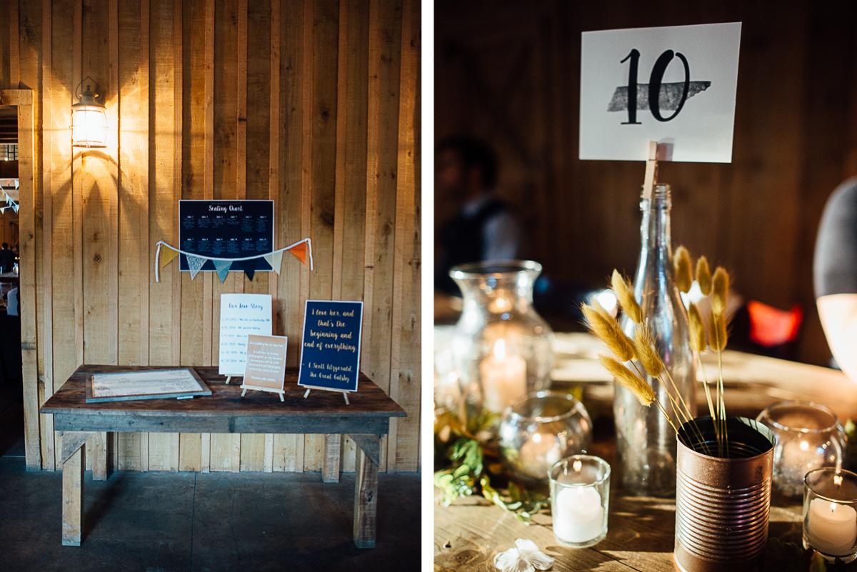 barn-wedding-details Becky and Alex   Green Door Gourmet - Fall Nashville Wedding