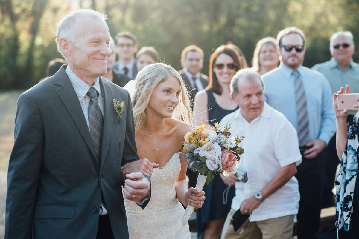 bride-and-father Becky and Alex   Green Door Gourmet - Fall Nashville Wedding