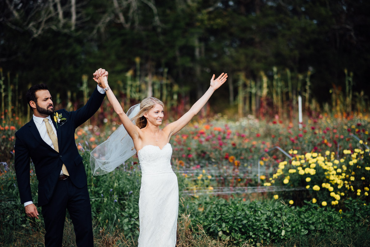 bride-groom-being-silly Becky and Alex | Green Door Gourmet - Fall Nashville Wedding