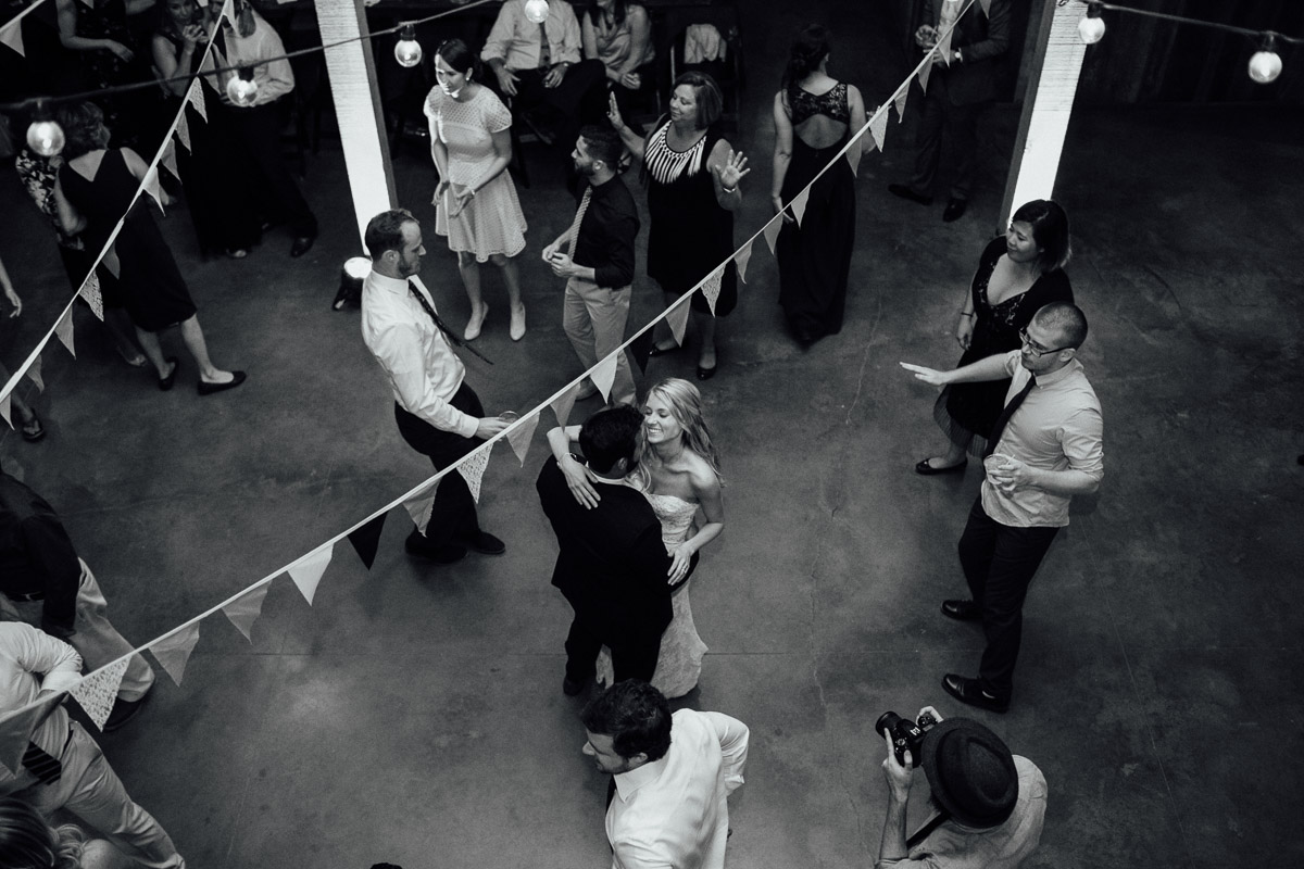 bride-groom-dancing-from-above Becky and Alex   Green Door Gourmet - Fall Nashville Wedding