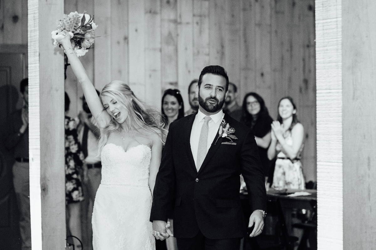 bride-groom-entrance Becky and Alex   Green Door Gourmet - Fall Nashville Wedding