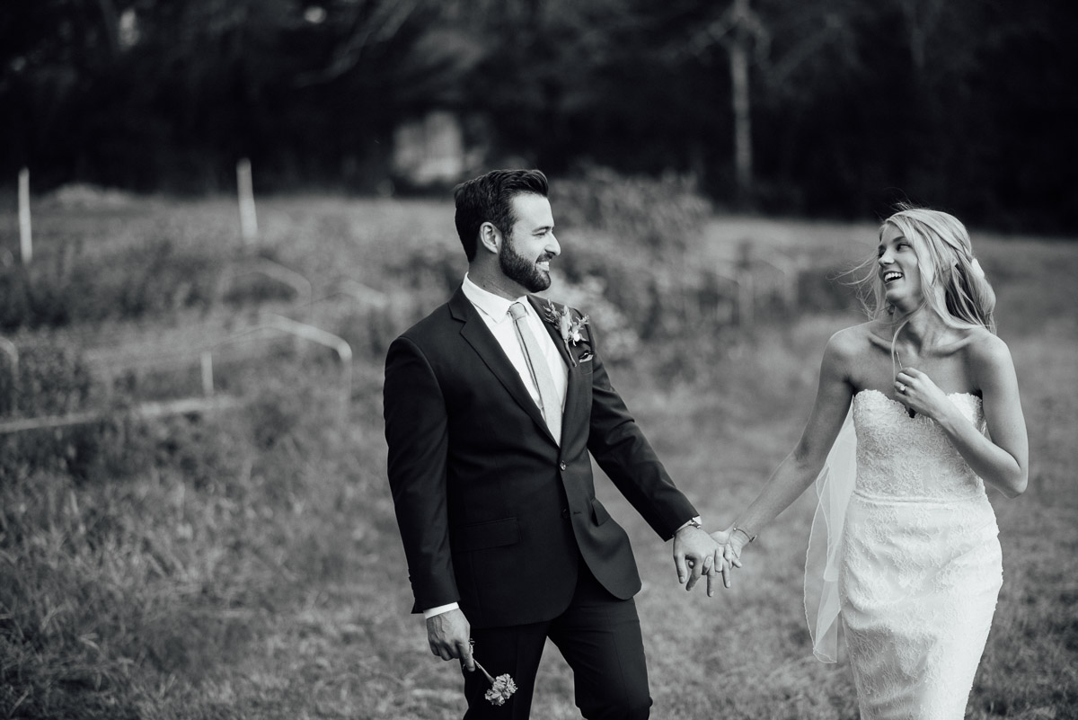 bride-groom-walking Becky and Alex | Green Door Gourmet - Fall Nashville Wedding