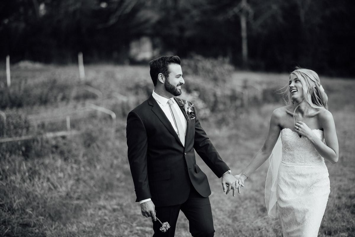 bride-groom-walking Becky and Alex   Green Door Gourmet - Fall Nashville Wedding