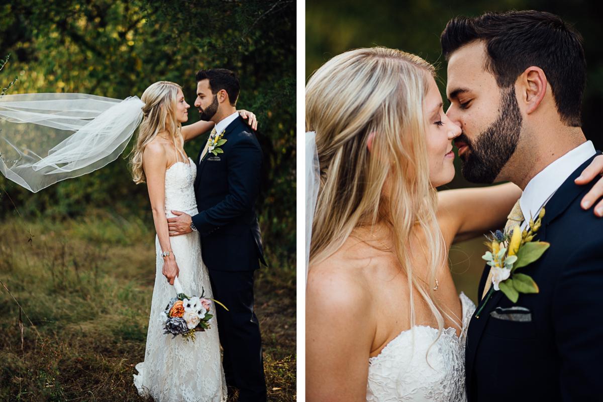 bride-veil-almost-kiss Becky and Alex   Green Door Gourmet - Fall Nashville Wedding