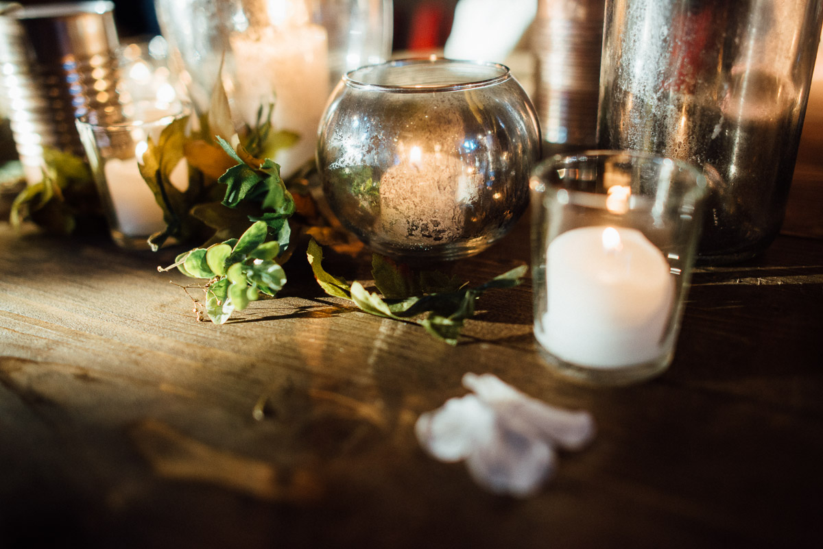 candles Becky and Alex | Green Door Gourmet - Fall Nashville Wedding