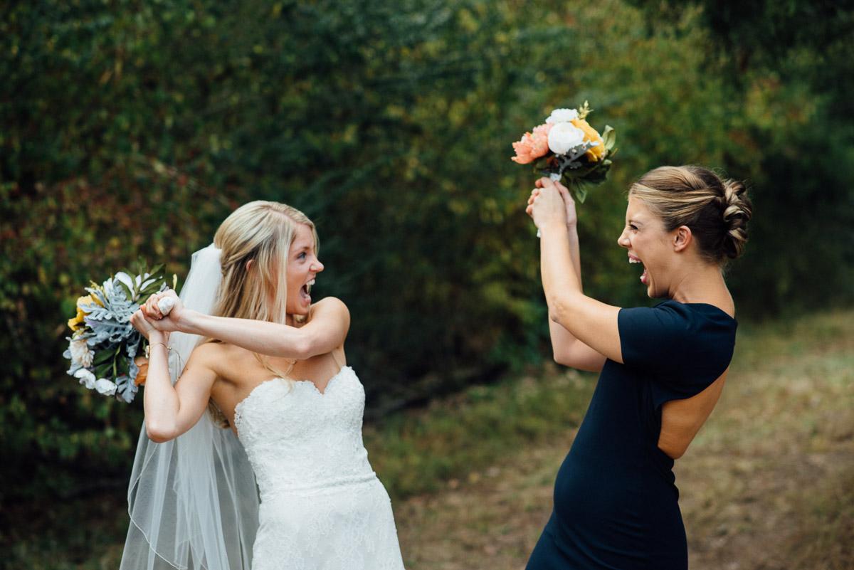 dueling-bridesmaid-bride Becky and Alex   Green Door Gourmet - Fall Nashville Wedding