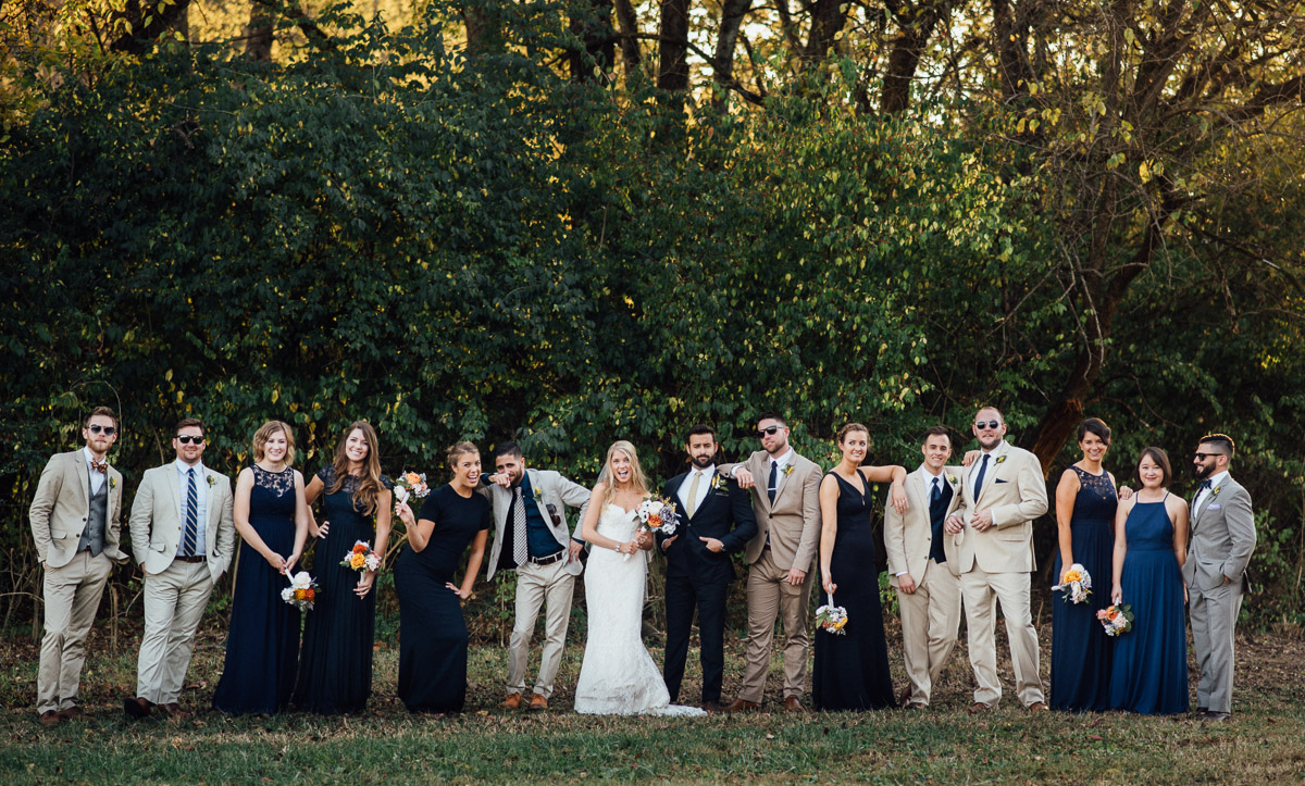 epic-bridal-party Becky and Alex | Green Door Gourmet - Fall Nashville Wedding