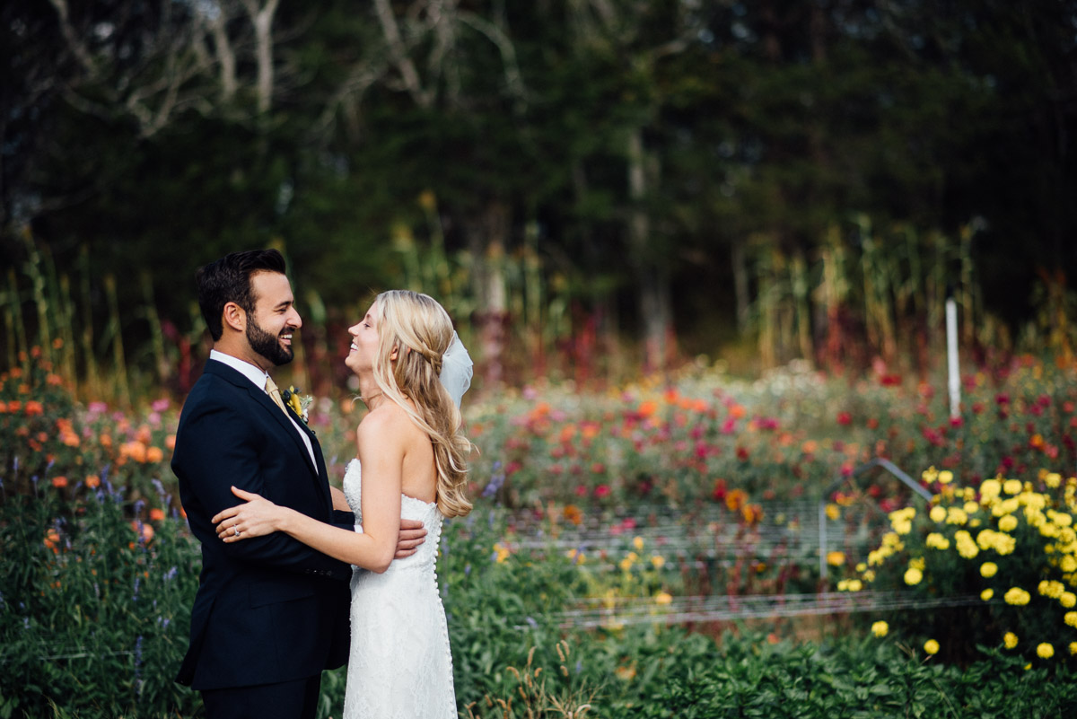 first-look Becky and Alex | Green Door Gourmet - Fall Nashville Wedding