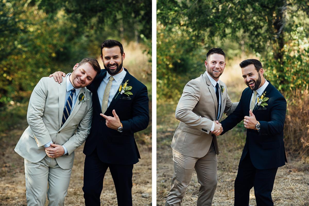 fun-groomsmen-portraits Becky and Alex   Green Door Gourmet - Fall Nashville Wedding