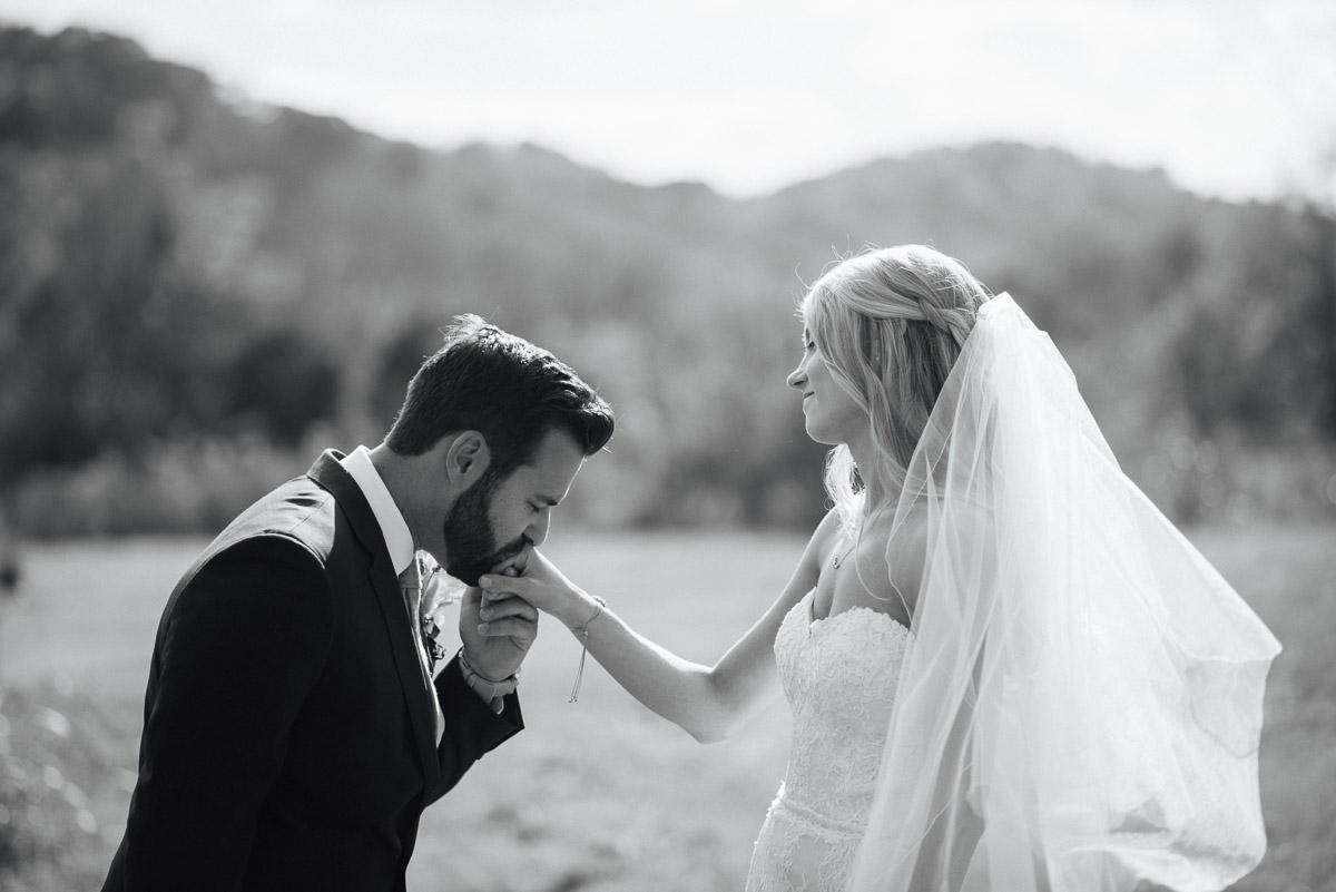 groom-kissing-brides-hand Becky and Alex   Green Door Gourmet - Fall Nashville Wedding