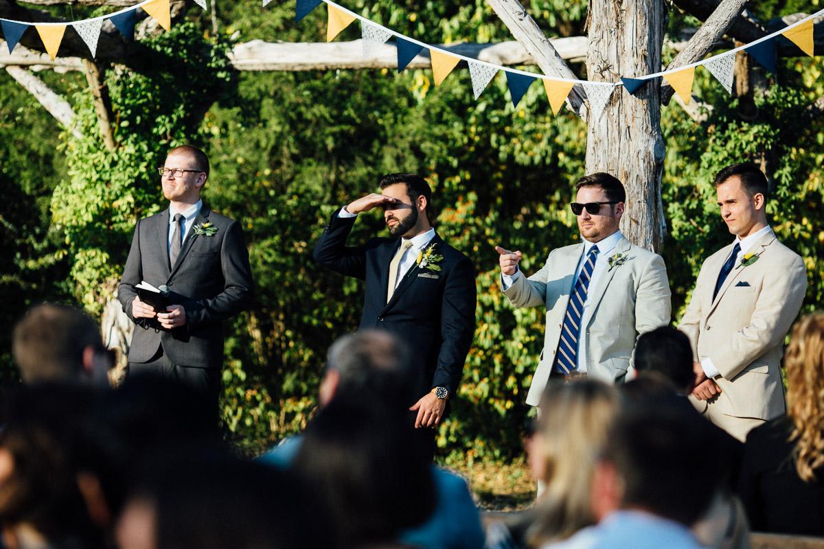 groom-looking-towards-bride Becky and Alex   Green Door Gourmet - Fall Nashville Wedding