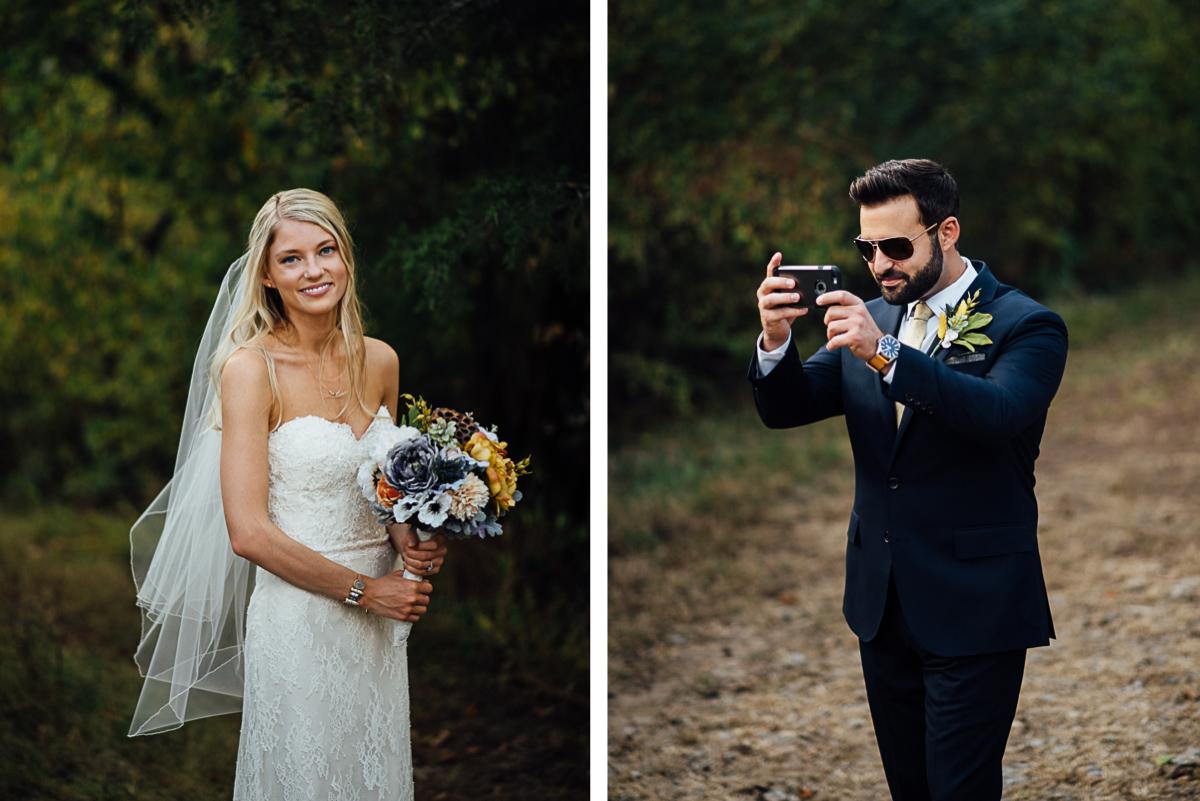 groom-photographing-bride Becky and Alex   Green Door Gourmet - Fall Nashville Wedding
